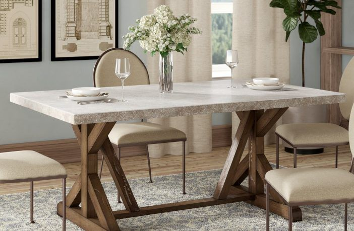 Wydmire Trestle Dining Table Reviews