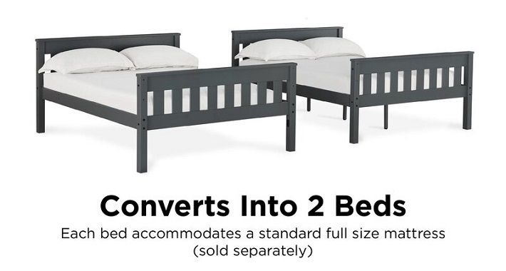 AlmedaCheatham Full Over Full Bunk Bed detachable separated