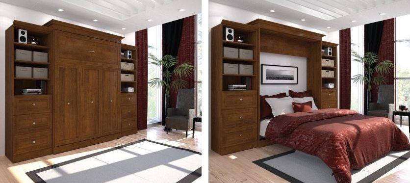 Billington Storage Murphy Bed in white or brown