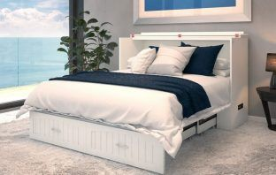 Emil Solid Wood Storage Murphy Bed with Mattress review