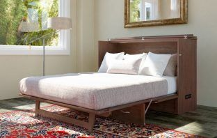Kimsey Solid Wood Storage Murphy Bed with Mattress