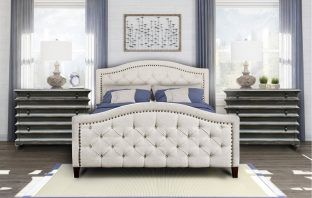Petersfield Tufted Upholstered Low Profile Platform Bed Review