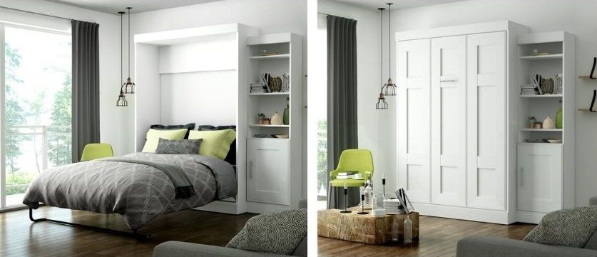 Beecroft Murphy Bed with Side Bookcase