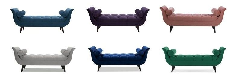 Cordelia Upholstered Bench gray, blue color