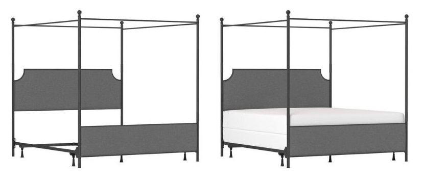 Jasman Canopy Bed box spring