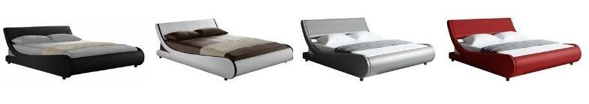 Karr Upholstered Low Profile Platform Bed in black white