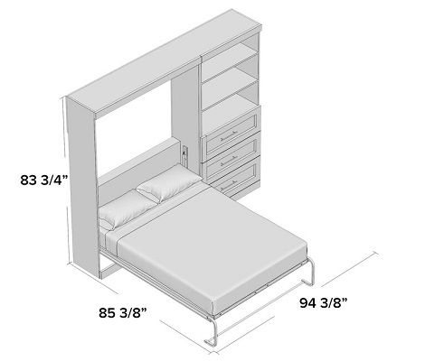 Walley Storage Murphy Bed dimensions full queen