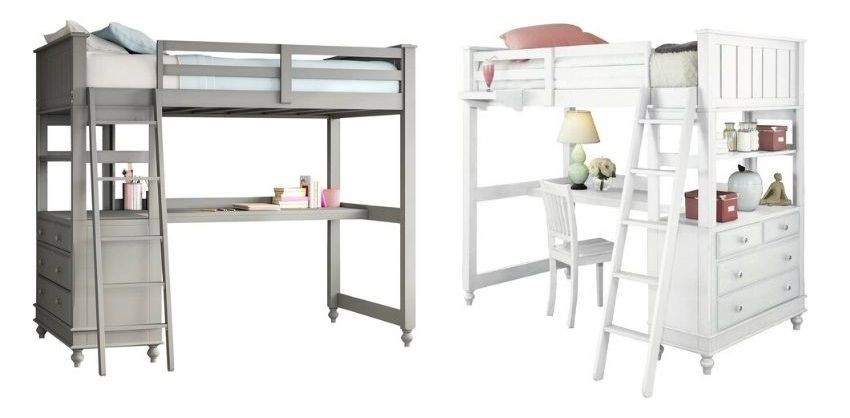 biggs loft bed with drawers twin or full size