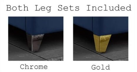 chrome or gold legs for alaysia bed