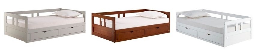 Bechtold Daybed white gray chestnut color