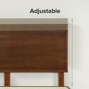Buhr platform bed adjustable headboard