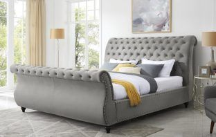 Matos Tufted Upholstered Sleigh Bed