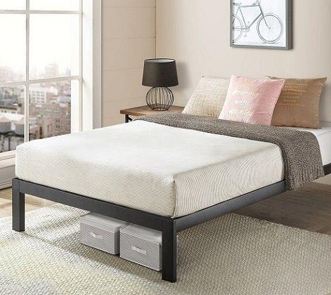 Twin XL Size Bed Frame Heavy Duty Steel Slats Platform Crown Comfort