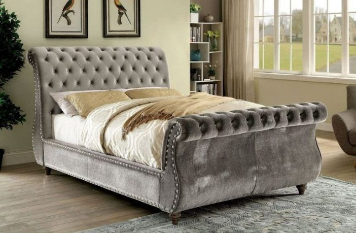 best tufted sleight beds by furniture of america
