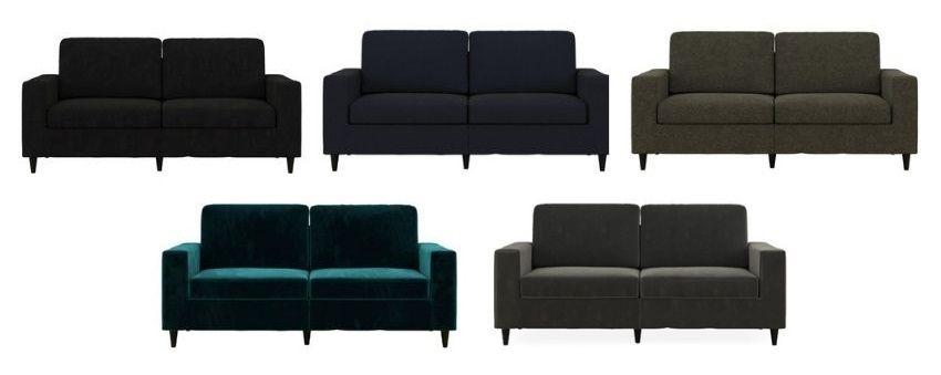 dhp cooper sofa in velvet or linen