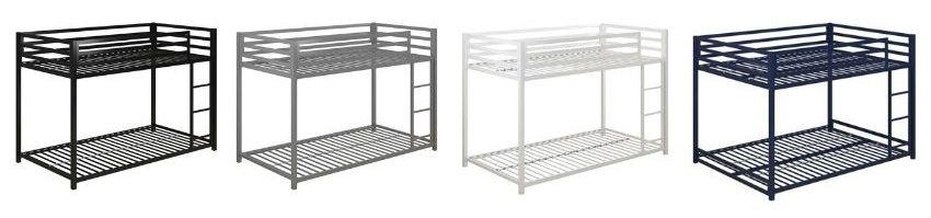 simoneau bunk bed black silver white blue