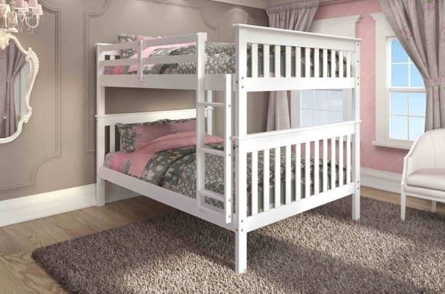 Donco Kids Mission Full Bunk Bed with Optional Drawers or Trundle