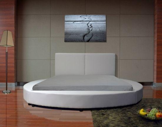 Greatime Modern Round Shape Platform Bed