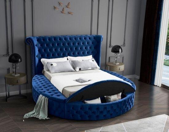 Linford Tufted Upholstered Low Profile Platform Bed