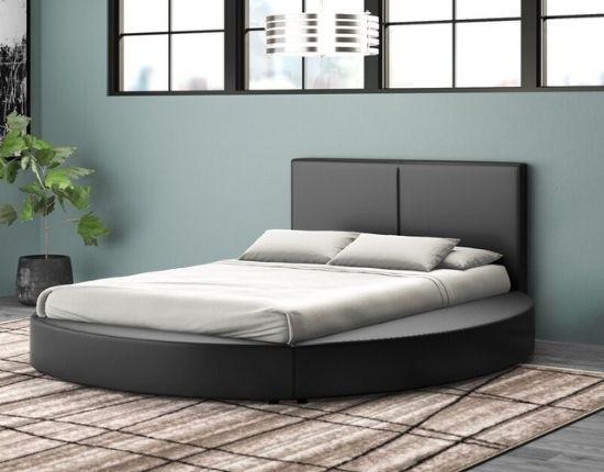 Lura Upholstered Platform Circle Bed, by Orren Ellis