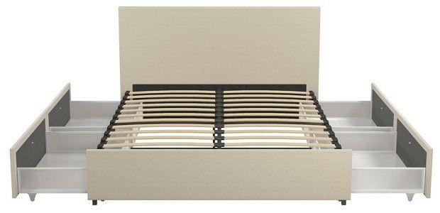Novogratz Kelly Bed with four storage drawers