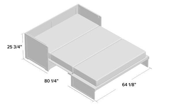 barham queen murphy bed dimensions