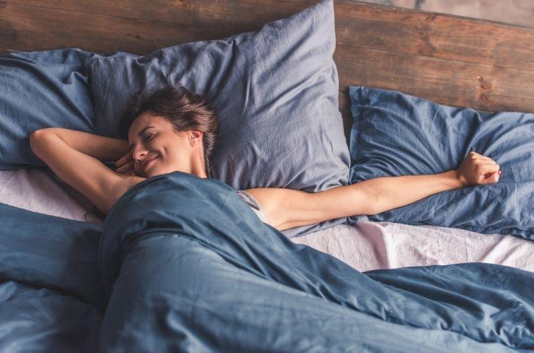 sleeping in healthy clean bed